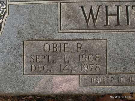 WHITENER, OBIE R  (CLOSE UP) - Hot Spring County, Arkansas | OBIE R  (CLOSE UP) WHITENER - Arkansas Gravestone Photos