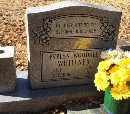 WOODALL WHITENER, EVELYN - Hot Spring County, Arkansas | EVELYN WOODALL WHITENER - Arkansas Gravestone Photos