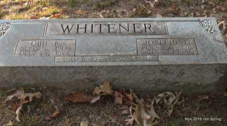 WHITENER, OBIE R - Hot Spring County, Arkansas | OBIE R WHITENER - Arkansas Gravestone Photos