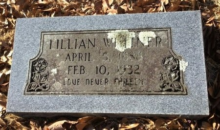 WHITNER, LILLIAN W. - Hot Spring County, Arkansas | LILLIAN W. WHITNER - Arkansas Gravestone Photos