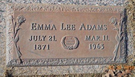 DINGLER ADAMS, EMMA LEE - Howard County, Arkansas | EMMA LEE DINGLER ADAMS - Arkansas Gravestone Photos