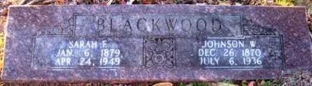 BLACKWOOD, SARA F - Howard County, Arkansas | SARA F BLACKWOOD - Arkansas Gravestone Photos
