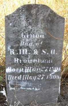 BROUGHAM, GENOA - Howard County, Arkansas | GENOA BROUGHAM - Arkansas Gravestone Photos