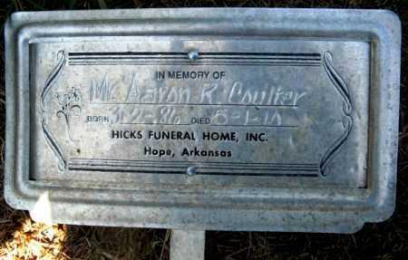 COULTER, AARON RAMANA - Howard County, Arkansas   AARON RAMANA COULTER - Arkansas Gravestone Photos