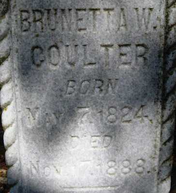 COULTER, BRUNETTA WILKERSON (CLOSE UP) - Howard County, Arkansas | BRUNETTA WILKERSON (CLOSE UP) COULTER - Arkansas Gravestone Photos