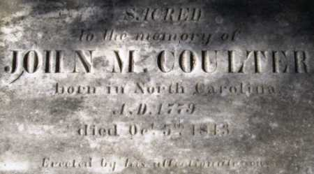 COULTER, JOHN M (CLOSE UP) - Howard County, Arkansas   JOHN M (CLOSE UP) COULTER - Arkansas Gravestone Photos