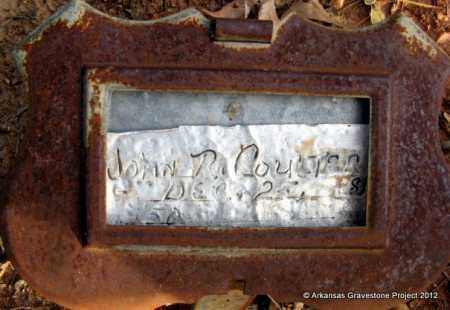 COULTER, JOHN R - Howard County, Arkansas | JOHN R COULTER - Arkansas Gravestone Photos
