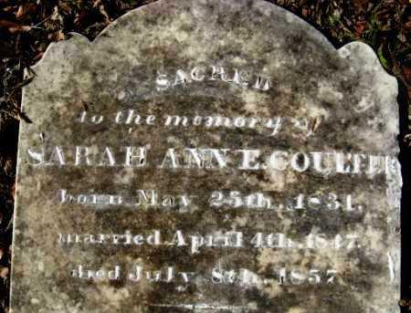 MCCLAIN COULTER, SARAH ANN E (CLOSEUP) - Howard County, Arkansas   SARAH ANN E (CLOSEUP) MCCLAIN COULTER - Arkansas Gravestone Photos