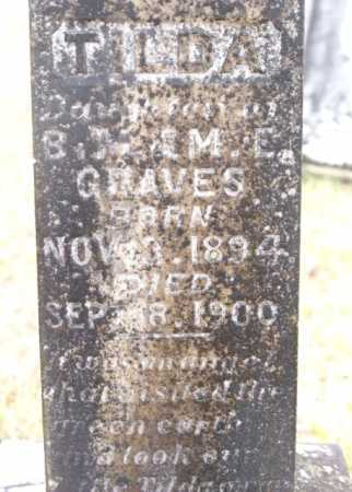 GRAVES, TILDA   (CLOSE UP) - Howard County, Arkansas   TILDA   (CLOSE UP) GRAVES - Arkansas Gravestone Photos