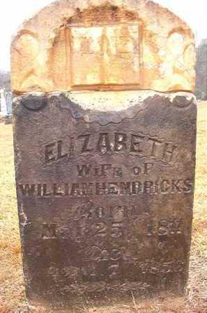 HENDRICKS, ELIZABETH - Howard County, Arkansas | ELIZABETH HENDRICKS - Arkansas Gravestone Photos