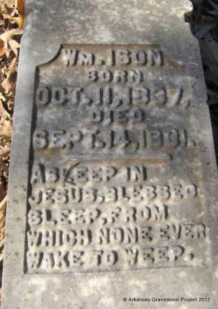 ISON, WILLIAM (CLOSE UP) - Howard County, Arkansas | WILLIAM (CLOSE UP) ISON - Arkansas Gravestone Photos