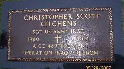 KITCHENS (VETERAN IRAQ), CHRISTOPHER SCOTT - Howard County, Arkansas | CHRISTOPHER SCOTT KITCHENS (VETERAN IRAQ) - Arkansas Gravestone Photos
