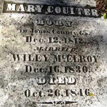 MCELROY, MARY (CLOSE UP) - Howard County, Arkansas   MARY (CLOSE UP) MCELROY - Arkansas Gravestone Photos