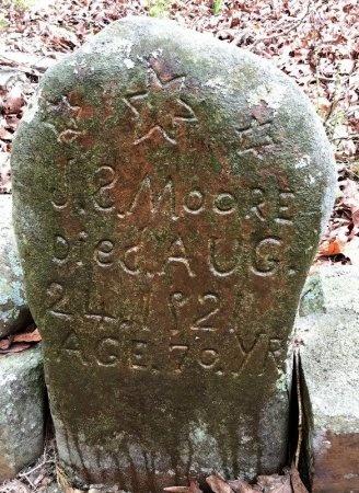 MOORE, JAMES SIMPSON (CLOSEUP) - Howard County, Arkansas   JAMES SIMPSON (CLOSEUP) MOORE - Arkansas Gravestone Photos