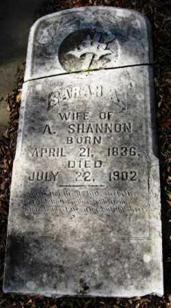 SHANNON, SARAH A - Howard County, Arkansas | SARAH A SHANNON - Arkansas Gravestone Photos