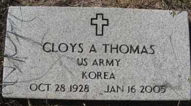THOMAS  (VETERAN KOR), CLOYS A - Howard County, Arkansas | CLOYS A THOMAS  (VETERAN KOR) - Arkansas Gravestone Photos