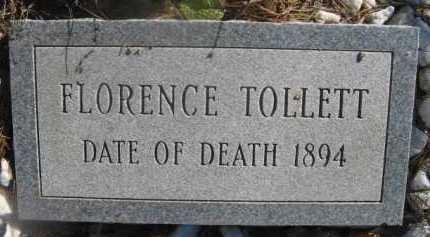 TOLLETT, FLORENCE - Howard County, Arkansas | FLORENCE TOLLETT - Arkansas Gravestone Photos
