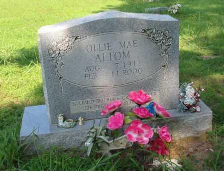 ALTOM, OLLIE MAE - Independence County, Arkansas   OLLIE MAE ALTOM - Arkansas Gravestone Photos