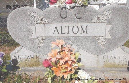ALTOM, WILLIAM MAX - Independence County, Arkansas | WILLIAM MAX ALTOM - Arkansas Gravestone Photos