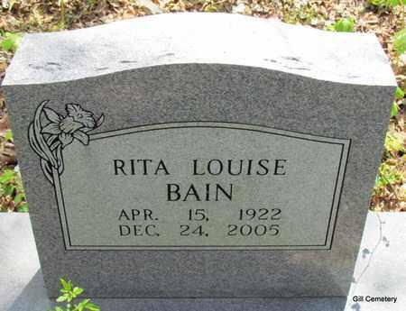 BAIN, RITA LOUISE - Independence County, Arkansas | RITA LOUISE BAIN - Arkansas Gravestone Photos
