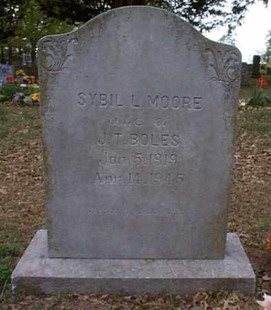 MOORE BOLES, SYBIL LORRAINE - Independence County, Arkansas | SYBIL LORRAINE MOORE BOLES - Arkansas Gravestone Photos