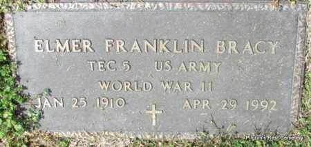 BRACY (VETERAN WWII), ELMER FRANKLIN - Independence County, Arkansas | ELMER FRANKLIN BRACY (VETERAN WWII) - Arkansas Gravestone Photos