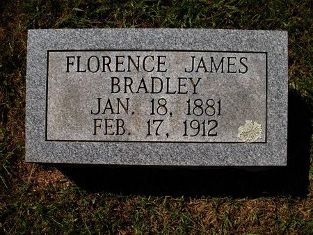 JAMES BRADLEY, FLORENCE - Independence County, Arkansas | FLORENCE JAMES BRADLEY - Arkansas Gravestone Photos