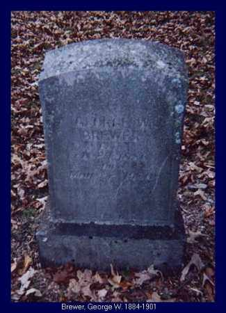 BREWER, GEORGE W. - Independence County, Arkansas   GEORGE W. BREWER - Arkansas Gravestone Photos