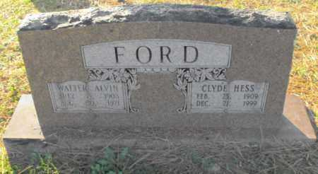 FORD, WALTER ALVIN - Independence County, Arkansas | WALTER ALVIN FORD - Arkansas Gravestone Photos
