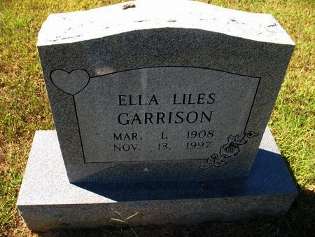 LILES GARRISON, ELLA - Independence County, Arkansas | ELLA LILES GARRISON - Arkansas Gravestone Photos