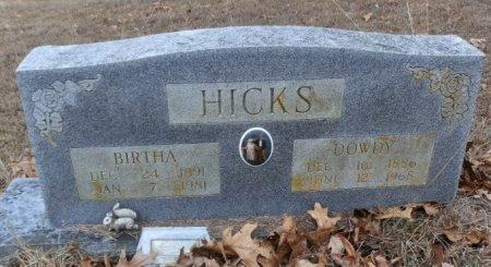HICKS, DOWDY - Independence County, Arkansas | DOWDY HICKS - Arkansas Gravestone Photos