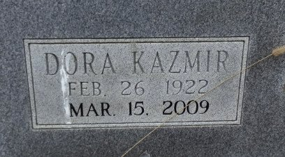 HICKS, DORA KAZMIR (CLOSE UP)(OBIT) - Independence County, Arkansas | DORA KAZMIR (CLOSE UP)(OBIT) HICKS - Arkansas Gravestone Photos
