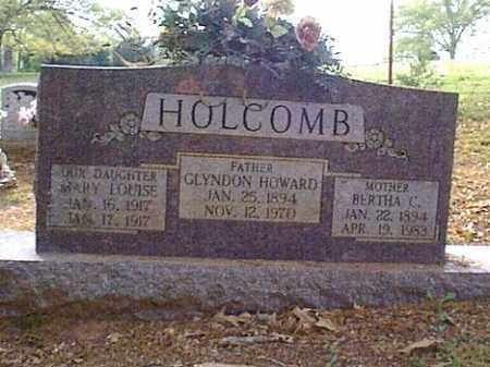 HOLCOMBE, GLYNDON HOWARD - Independence County, Arkansas | GLYNDON HOWARD HOLCOMBE - Arkansas Gravestone Photos