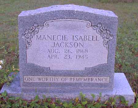 JACKSON, MANECIE ISABELL - Independence County, Arkansas | MANECIE ISABELL JACKSON - Arkansas Gravestone Photos