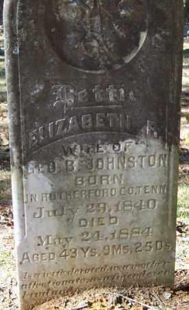 JOHNSTON, ELIZABETH BETTIE R. - Independence County, Arkansas   ELIZABETH BETTIE R. JOHNSTON - Arkansas Gravestone Photos