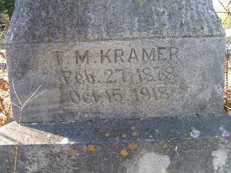 KRAMER, T. M. - Independence County, Arkansas | T. M. KRAMER - Arkansas Gravestone Photos