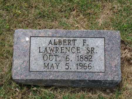 LAWRENCE, SR., ALBERT F. - Independence County, Arkansas   ALBERT F. LAWRENCE, SR. - Arkansas Gravestone Photos