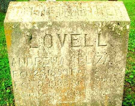 """LOVELL, ANDREW """"ANDY"""" ALPHAUS - Independence County, Arkansas 