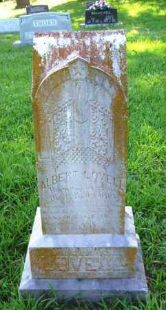 LOVELL, ALBERT ANDREW - Independence County, Arkansas   ALBERT ANDREW LOVELL - Arkansas Gravestone Photos