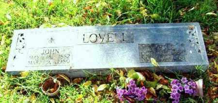 LOVELL, JOHN NICHALAS - Independence County, Arkansas   JOHN NICHALAS LOVELL - Arkansas Gravestone Photos