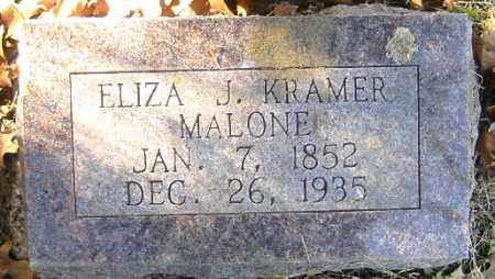KRAMER MALONE, ELIZA J - Independence County, Arkansas | ELIZA J KRAMER MALONE - Arkansas Gravestone Photos