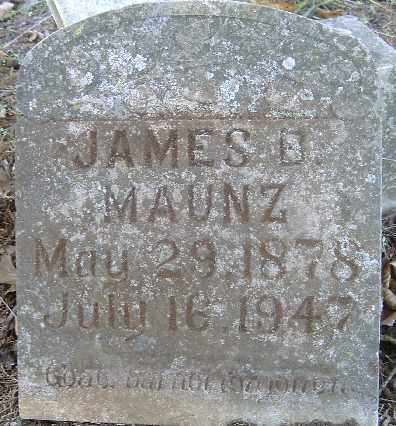 MAUNZ, JAMES B - Independence County, Arkansas | JAMES B MAUNZ - Arkansas Gravestone Photos
