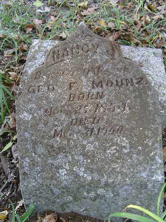 MAUNZ, NANCY - Independence County, Arkansas | NANCY MAUNZ - Arkansas Gravestone Photos