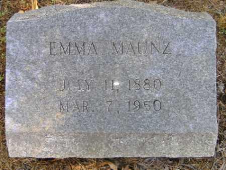 MAUNZ, EMMA - Independence County, Arkansas | EMMA MAUNZ - Arkansas Gravestone Photos