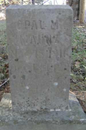 MAUNZ, OPAL M - Independence County, Arkansas   OPAL M MAUNZ - Arkansas Gravestone Photos