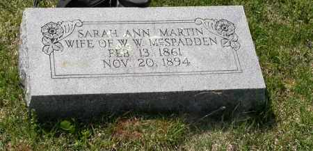 MCSPADDEN, SARAH ANN - Independence County, Arkansas | SARAH ANN MCSPADDEN - Arkansas Gravestone Photos