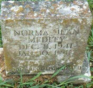 MEDLEY, NORMA JEAN - Independence County, Arkansas | NORMA JEAN MEDLEY - Arkansas Gravestone Photos