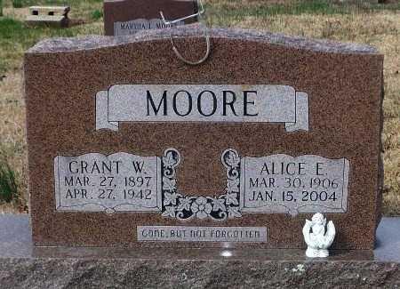 MOORE, ALICE E.   - Independence County, Arkansas | ALICE E.   MOORE - Arkansas Gravestone Photos