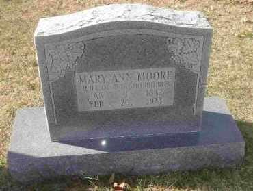 MOORE, MARY ANN - Independence County, Arkansas | MARY ANN MOORE - Arkansas Gravestone Photos