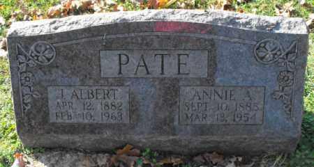 PATE, JAMES ALBERT - Independence County, Arkansas | JAMES ALBERT PATE - Arkansas Gravestone Photos